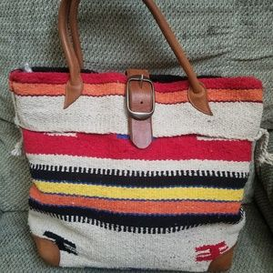 Two Bar West/Mcfadin Navajo wool bag